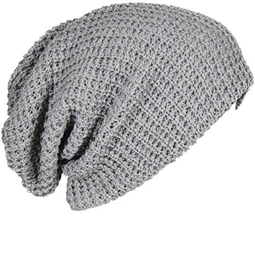 542c14eddb0cb2 FORBUSITE Mens Slouchy Long Oversized Beanie Knit Cap for Summer Winter B08  (Light Gray)