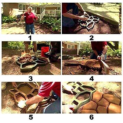 Parche de acera colour incluye jardín losas de hormigón parche encofrado 43 * 43 * 4 cm