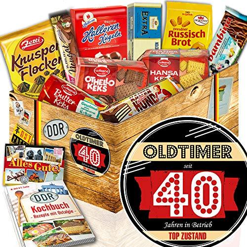 Keks Schokolade | Ost Box | Oldtimer 40 | Süßigkeitenset zum 40.