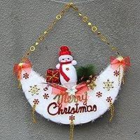 Schiuma solida del pupazzo di neve natale ciondolo Natale scena layout della luna appeso ornamenti ciondolo albero di Natale,52 * 47cm