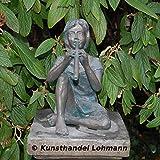 Bronze - Wasserspeier 'Rebecca mit Flöte' von Rottenecker Bronzekunst