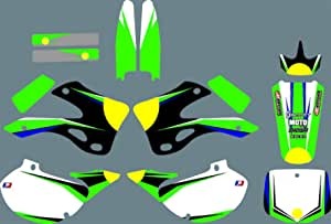 Dst0674 Custom Kawasaki Motorrad Aufkleber Kit Motorcross Grafik Dirt Bike Aufkleber Für Kawasaki Kx125 Kx250 1999 2000 2001 2002 3m Adhesive Decals Auto