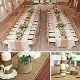 Aytai 10M (32ft) langer, natürlicher Jute Burlap Roll Sackleinen Tischläufer für Hochzeit Party Bankett Dekoration