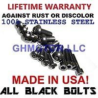 Ghmotor Boulons et rondelles Carénage Boulons Attaches Vis kit Lot fabriqué aux États-Unis pour 201112131415162017Suzuki GSXR GSX-R 600750All Black