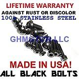 ghmotor Schrauben und Unterlegscheiben Verkleidung Schrauben gurthalteband Schrauben Set Made in USA für 200203042005Kawasaki ZZR1200alle schwarz