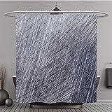 Duschvorhang polyester-307138772Kratzer auf das Metall Hintergrund-Bad