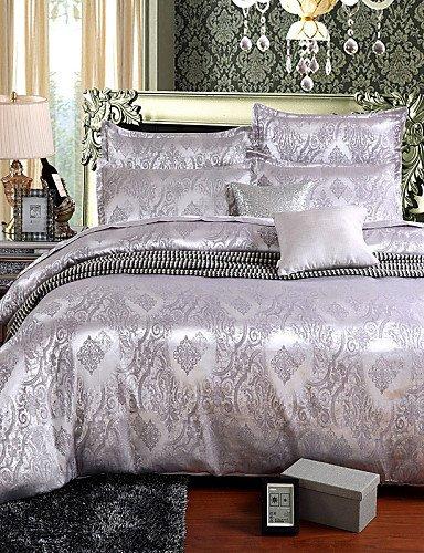 ZHUAN GAOHAIFQ®, vierteilige Anzug,bedtoppings Baumwolle reich Jacquard geprägt 4pcs Bettbezug-Set, Queen -