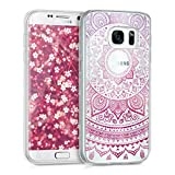kwmobile Samsung Galaxy S7 Hülle - Handyhülle für Samsung Galaxy S7 - Handy Case in Pink Transparent