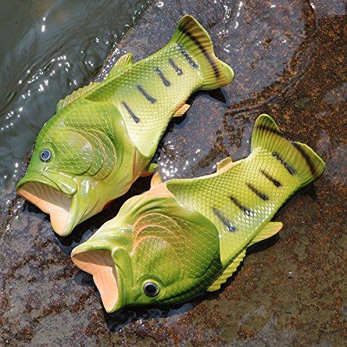 Oasap Herren Damen Besondere Fisch Strand Slippers Flip Flops Anti-Rutsch Hausschuhe - 2