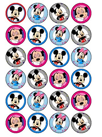 Minnie-Mickey Mouse &de 24 décorations pour cupcakes (#2)