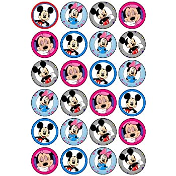 24 Mickey & Minnie Mouse Cupcake Toppers (#2): Amazon.co ... Mickey Mouse Cupcake Toppers Free