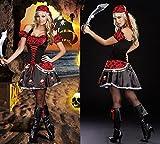 Gorgeous Fluch der Karibik Pailletten Piratin Halloween-Kostüm- Rollenspiel Kostüme