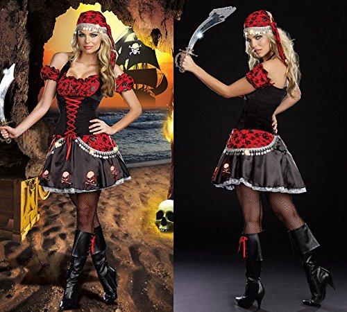 aribik Pailletten Piratin Halloween-Kostüm- Rollenspiel Kostüme ()