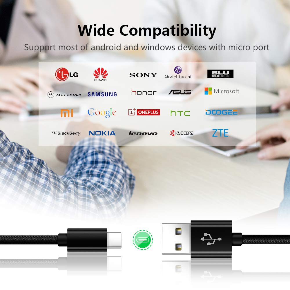 Cable Usb C 0.3M 1M 2M 3M Para Samsung S20 Plus Ultra 5G S10 S10E S20 S9 S8,Xiaomi Redmi Note 9 Pro Max//8 Pro//7 8T,Mi 10//10 Pro//A3//9 9T//9 SE,Huawei P30 P40 Lite,Datos y Carga R/ápida Tipo C de Nylon