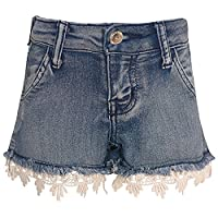 Cutie Patootie Little Girls Blue Trendy Casual Denim Cut Offs Shorts 6