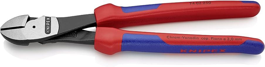 Knipex 74 02 250 – Kraft-Seitenschneider für 20 % Kraftersparnis, 250 mm