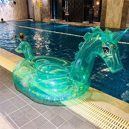 iJIAHOMIESchwimmringeAufblasbares Spielzeug Rideable Schwimmende Reihen-Pool-Floss-Partei-Dekorations-SpielwarenAufblasbare Mount PVC Erwachsenen Kristall Pferd schwimmende Reihe Schwimmen Runde, 240x240x120cm -