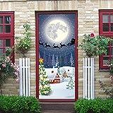 AmyGline Weihnachten kreative Tür Abdeckung Aufkleber Home Decal Dekoration 30-Zoll durch 6,5-Fuß-Wandbilder Sticke Dekoration