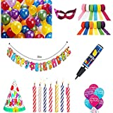 Metallic HD Balloons+Birthday Printed Ba...