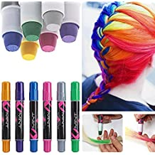 6 couleur craie coloration cheveux teinture diy hair chalk cheveux non toxique temporaires coloration cheveux coloration - Coloration Cheveux Craie