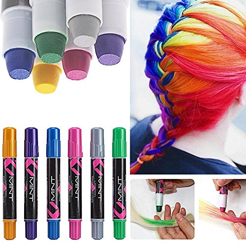 6 couleur craie coloration cheveux teinture diy hair chalk cheveux non toxique temporaires coloration cheveux coloration - Coloration Cheveux 61