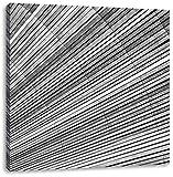 Monocrome, Bunter Farbfächer, Format: 60x60 auf Leinwand, XXL riesige Bilder fertig gerahmt mit Keilrahmen, Kunstdruck auf Wandbild mit Rahmen, günstiger als Gemälde oder Ölbild, kein Poster oder Plakat