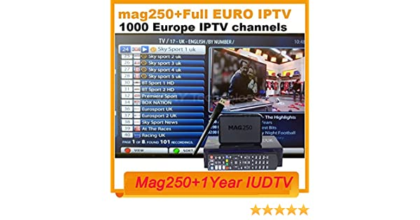 ARBUYSHOP MAG 250 iptv Set Top Box sky Italy UK DE Linux European IPTV Box  for Spain Portugal Turkish Netherlands MAG250 WiFi IPTV tv box