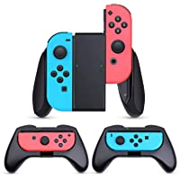 HEYSTOP Grip Compatible with Nintendo Switch Joy-Con, 3 Pack Wear Resistant Game Switch Controller Handle Case Kit…
