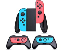 HEYSTOP Grip Compatible with Nintendo Switch/Switch OLED Joy-Con, 3 Pack Wear Resistant Game Switch Controller Handle Case Ki