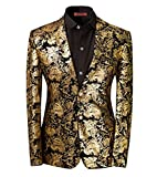 Taglio Slim Fit giacca da uomo matrimonio smoking Golden oro M