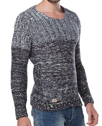 Red Bridge Herren Strickpullover Wrap Low Carb Sweatshirt Strick M3002 Anthrazit