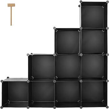 homfa schrank diy kleiderschrank regalsystem stufenschrank. Black Bedroom Furniture Sets. Home Design Ideas