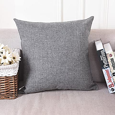 Home Brilliant Decorative Linen Square Throw Pillow Cases Cushion Covers for Kids, 18