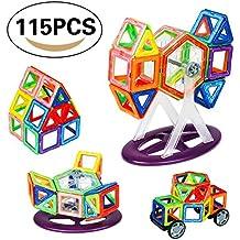 Bloques de Construcción Magnéticos Building Blocks Magnéticas Juegos de Construcción DIY Apilamiento Juguetes Educativos para Los