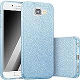 FINOO | Samsung Galaxy A5 2017 Rundum 3 in 1 Glitzer Bling Bling Handy-Hülle | Silikon Schutz-hülle + Glitzer + PP Hülle | Weicher TPU Bumper Case Cover | Blau