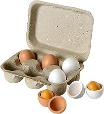 Beluga Spielwaren 70827 - Eierset mit Holzeiern, 6er Pack