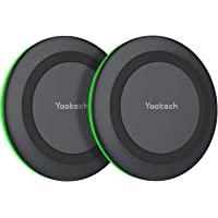 Wireless Charger Pad 2 Pack,YOOTECH 10W Fast QI Induktion Ladestation kabelloses Ladegerät kompatibel mit iPhone 12/11…