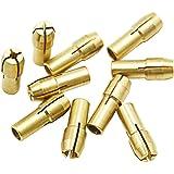 10pcs Mandrini Ottone Drill Pinze Bit 0.5-3.2mm Accessori per Dremel Utensili Rotanti Shank 4.3mm