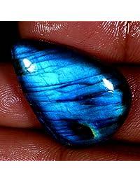 31.95cts 100% natural Madagascar azul fuego Labradorita pera cabujón piedras preciosas
