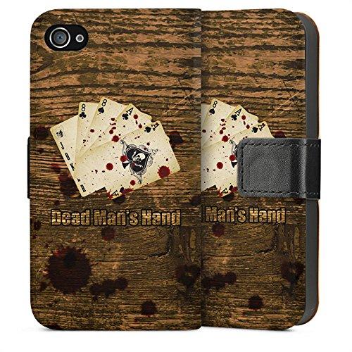 Apple iPhone 5s Housse étui coque protection Cartes C½ur Jeu Sideflip Sac