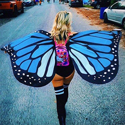 fschal für Damen von Yipinco7285,147x 65cm im Schmetterlingmuster (Europäische Kostüm Bilder)