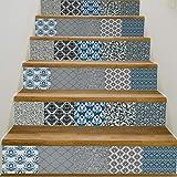 Treppenaufkleber Selbstklebende 3D Treppe Aufkleber Schritte Dekor Wandkunst Wandtattoo Abnehmbare Einfach Zu Installieren Fliesen Dekoration 7,1X39,4