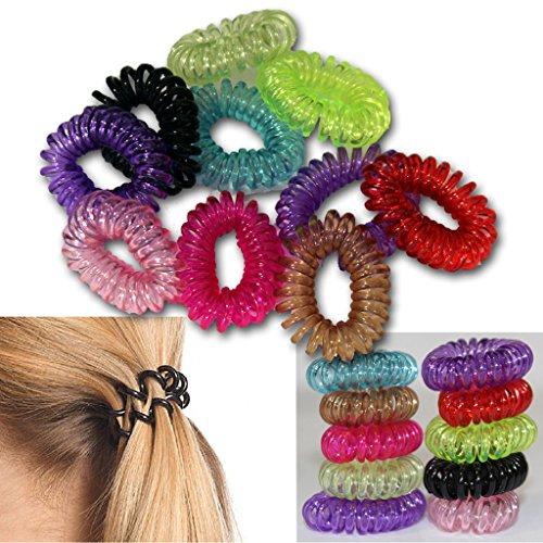 bid-buy-direct-cheveux-cravates-queue-de-cheval-supports-lot-de-10couleurs-assorties-extensible-last