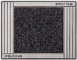 CarFashion 257195 PUR|SkylineClean – Fussmatte| Türmatte| Fußabtreter | Schmutzfangmatte | Sauberlaufmatte | Eingangsmatte| für Innen und Aussen | Anthrazit-Metallic Oberfläche | Scraper-Noppen mit robustem Textilbelag | Größe ca. 75 x 57 cm