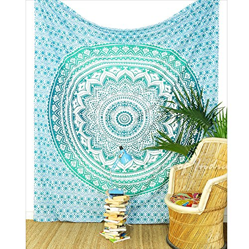 eyes-of-india-queen-green-ombre-mandala-wall-hanging-tapestry-bedspread-beach-blanket-decor