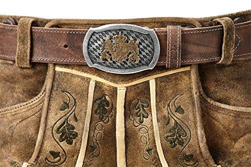 Trachtenkönig Trachtengürtel Original Unisex zur Lederhose Bayern Wappen Kürzbar (95 cm, Dunkelbraun (Vollrindleder))_TK05_01_M_95 - 6