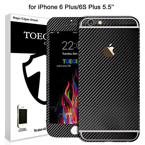 Exture 3D in Fibra Di Carbonio Sticker Protettore per iPhone 6s Plus/6 Plus - Nero