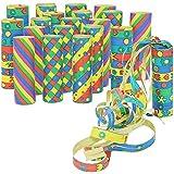 COM-FOUR® 20x Rollen Party Deko Luftschlangen in verschiedenen Mustern für z.B. Geburtstage oder Silvester (20 Stück - Muster Mix)