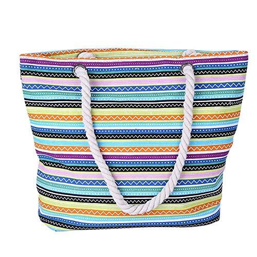 Bestehen Sie immer auf Erfolg Wasserdichte Strandtasche Damensommerstrandhandtasche dreifarbige...