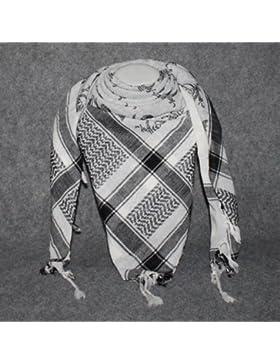 Superfreak® Pañuelo pali con estampado de calaveras 5°chal PLO°100x100 cm°Pañuelo palestino Arafat°100% algodón...